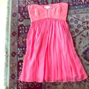 DVF strapless ASti silk dress size 6, coral color